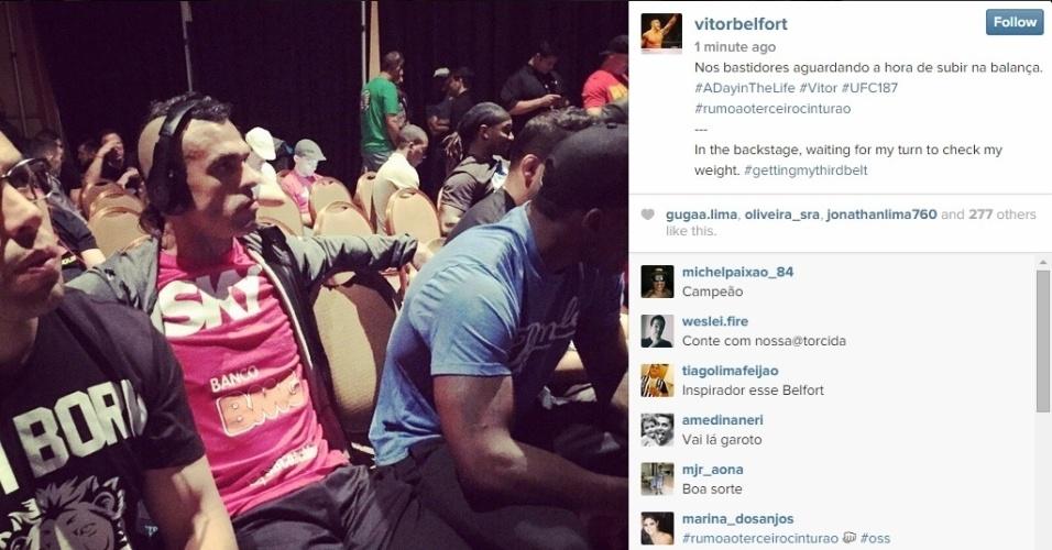 Vitor Belfort aguarda o momento de subir na balança para confirmar o duelo deste sábado (23) contra Chris Weidman