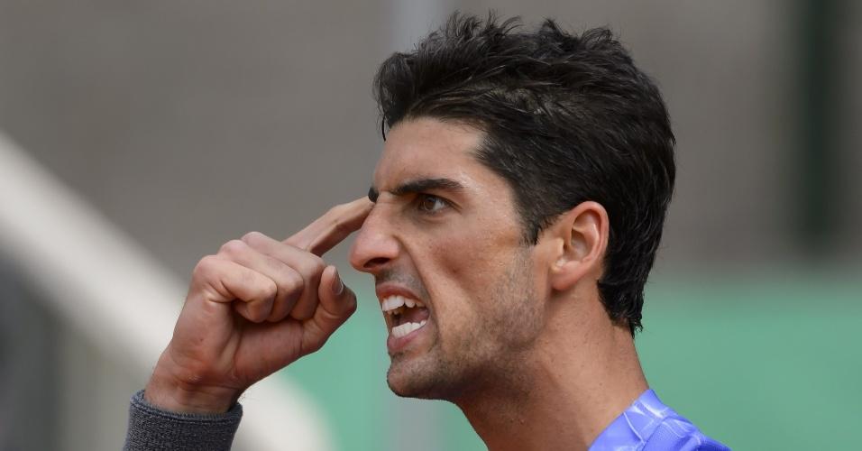 Bellucci vibra e aponta força mental após vencer tie-break do primeiro set