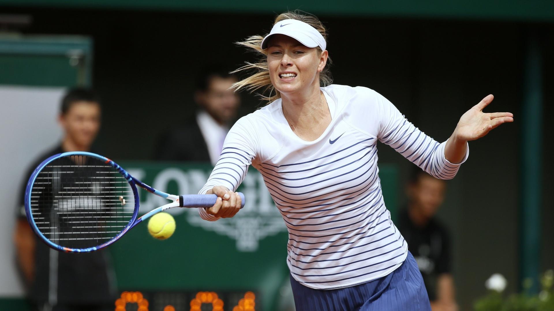 Maria Sharapova em sua estreia em Roland Garros