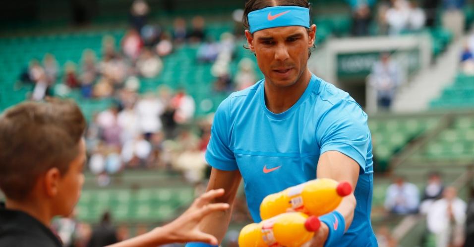 Rafael Nadal em sua estreia em Roland Garros