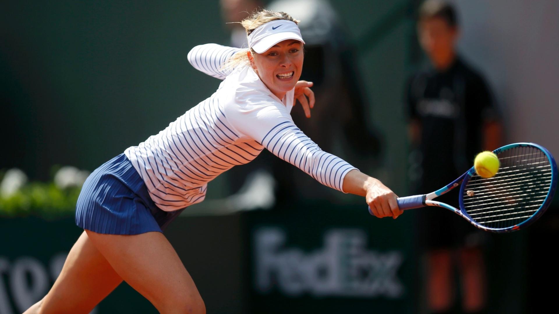Maria Sharapova na segunda rodada de Roland Garros