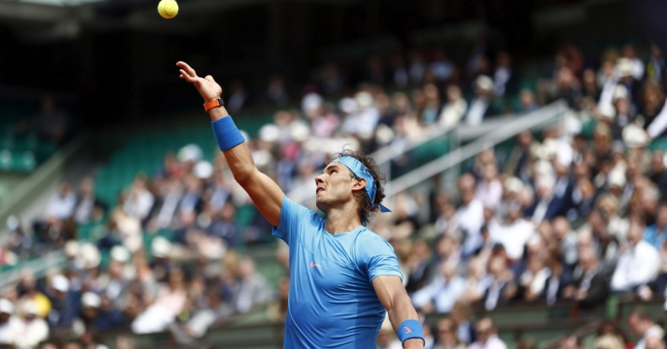 Rafael Nadal na segunda rodada de Roland Garros
