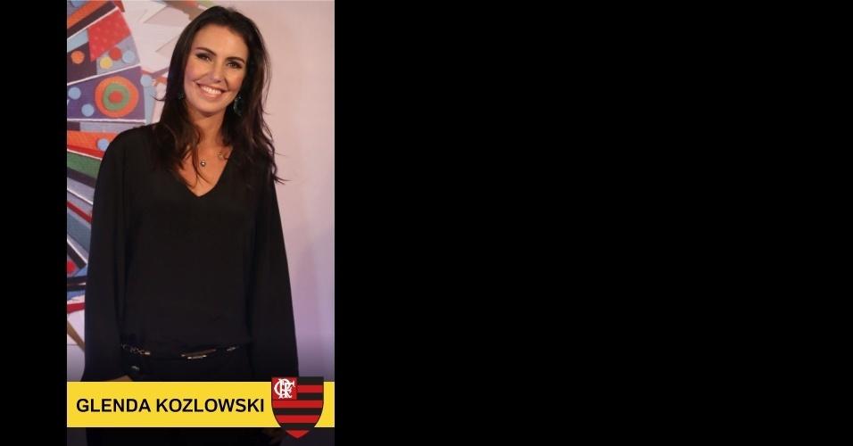 Glenda Kozlowski, que apresenta o Esporte Espetacular e também o Carnaval na Globo, é Flamengo