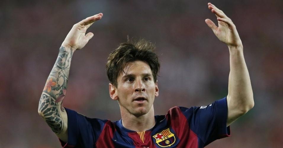 Messi comemora gol na final da Copa do Rei
