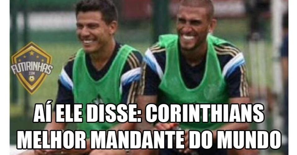 Internautas brincam com derrota do Corinthians para o Palmeiras na Arena Corinthians