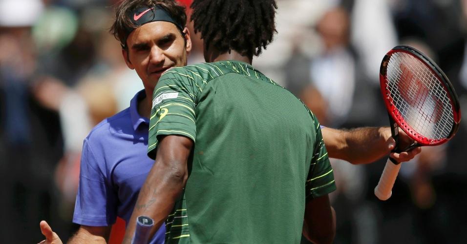 Roger Federer e Gael Monfils nas oitavas de final em Roland Garros