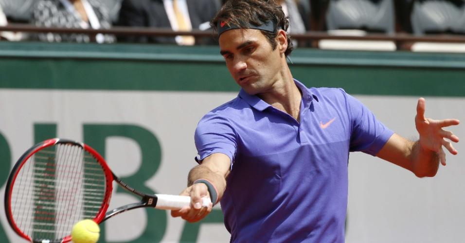Roger Federer nas oitavas de final em Roland Garros