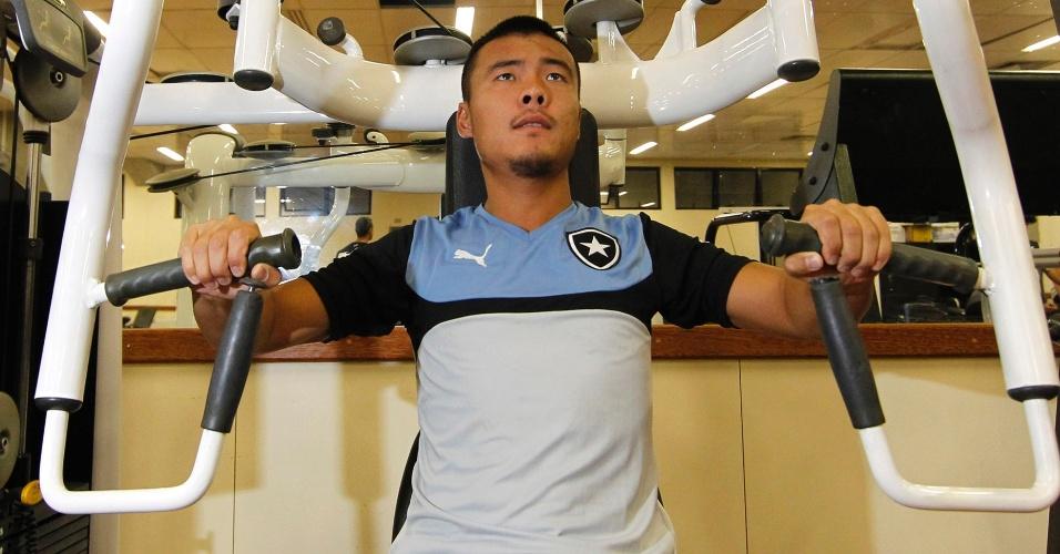 ChangBao está em período de teste no Botafogo, de olho em estreitar laços comerciais com a China