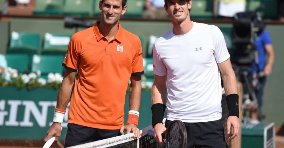 Djokovic e Murray chegaram para o duelo invictos no saibro em 2015