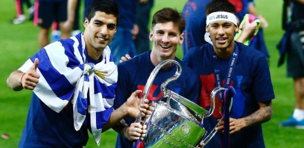 Suárez, Messi e Neymar figuram entre os 11 atletas mais valiosos do planeta