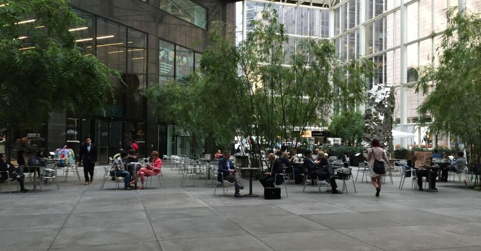 Área externa do Trump Tower, apartamento de luxo no centro de Nova York