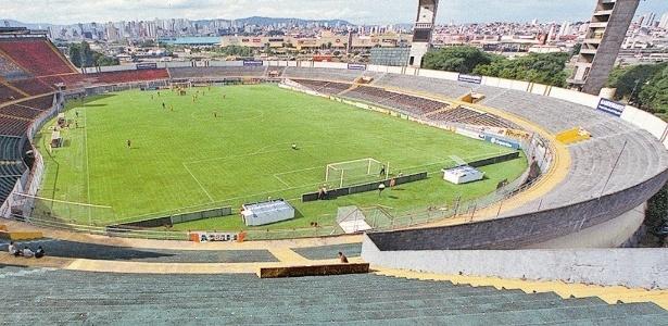Vista geral do estádio do Canindé, da Portuguesa, em São Paulo (SP)