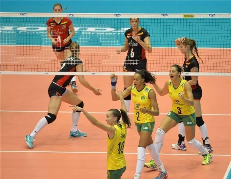 Seleção venceu os 2 primeiros sets com facilidade no triunfo contra a Bélgica