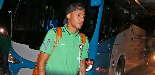 Neymar em sua última apresentação à seleção; brasileiro está liberado para a Rio-2016