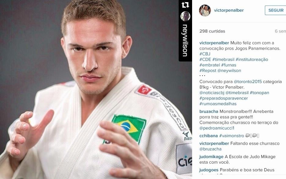 05.jul.2015 - Judoca Victor Penalber vai representar o Brasil nos Jogos Pan-Americanos de 2015