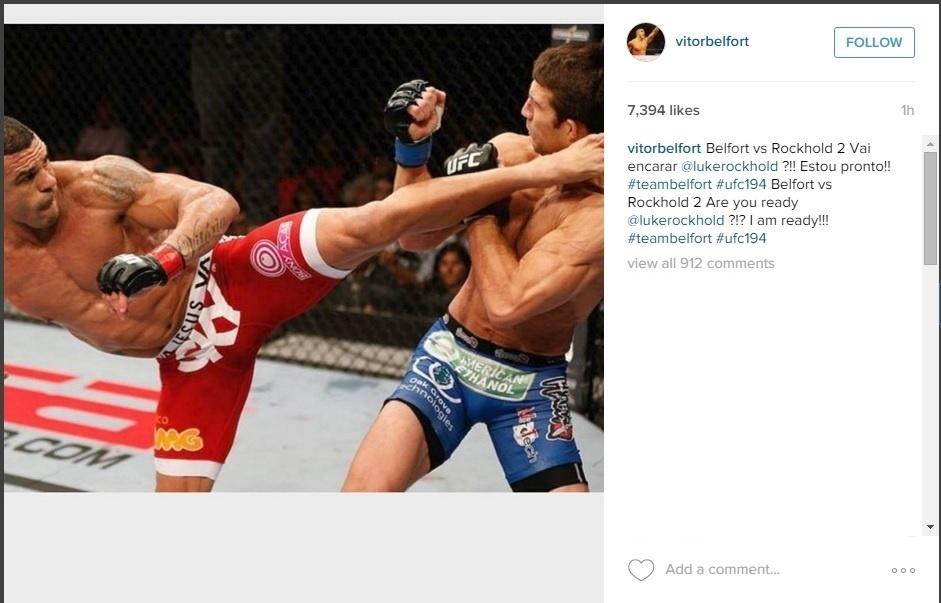 Belfort pede nova luta contra Luke Rockhold
