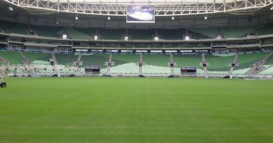Novo gramado do Allianz Parque foi entregue depois de 60 dias