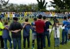 Na volta aos treinos, Cruzeiro faz roda de oração em homenagem à Chape - Washington Alves/Light Press/Cruzeiro