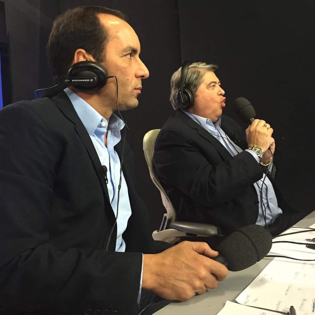 Edmundo participa de transmissão da TV Band ao lado Datena