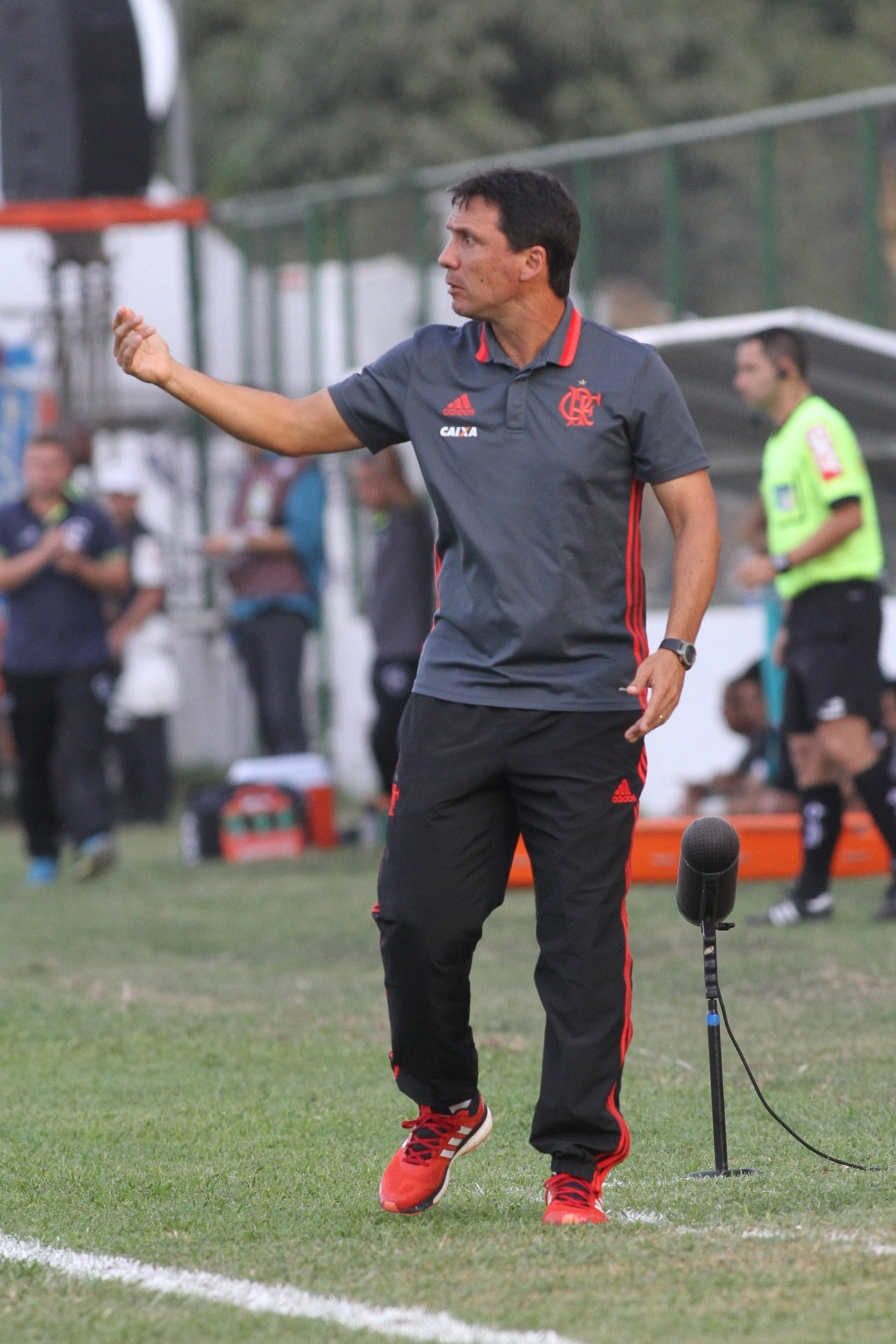 Zé Ricardo, técnico do Flamengo, durante a partida contra o Botafogo