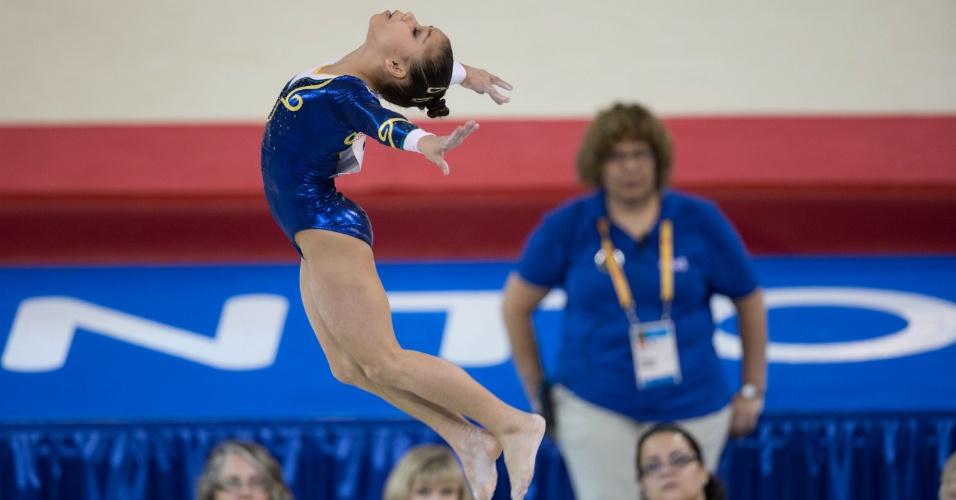 Flavia Saraiva se apresenta na final do solo. Brasileira terminou na sexta colocação