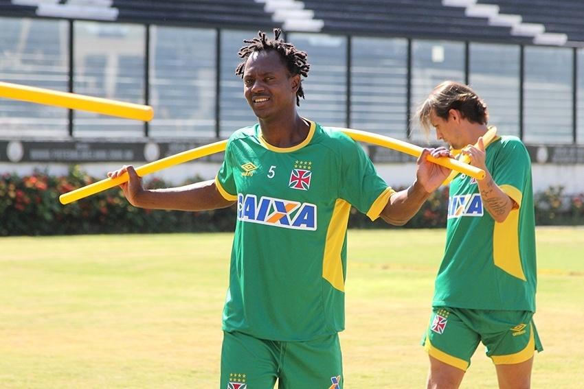 Andrezinho durante a pré-temporada do Vasco