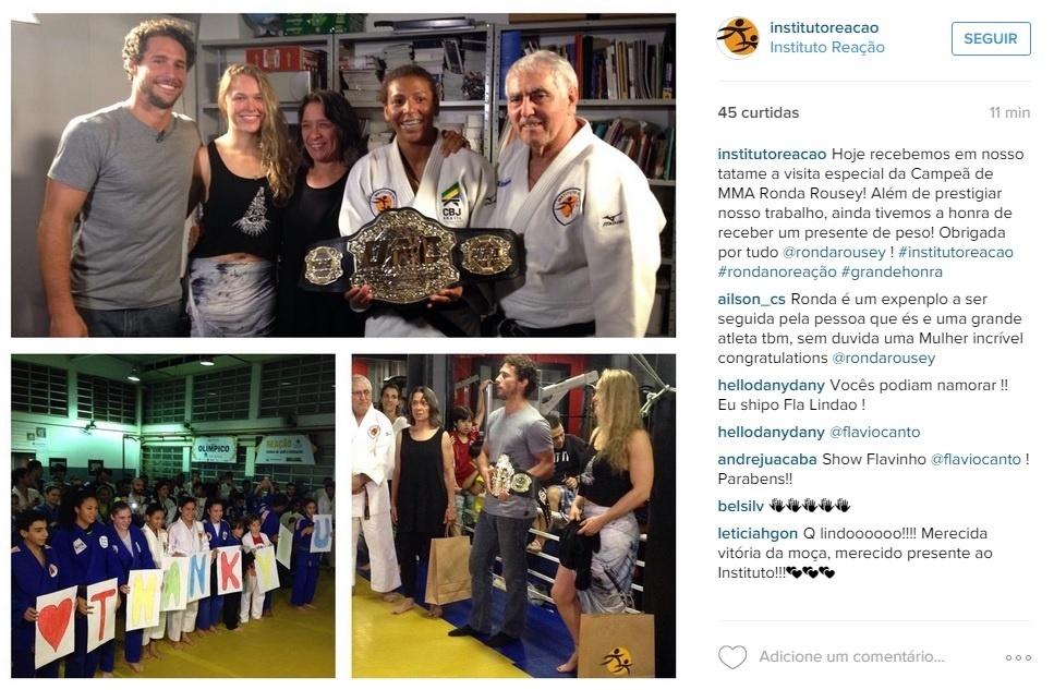 Ronda Rousey deixa o cinturão no Brasil