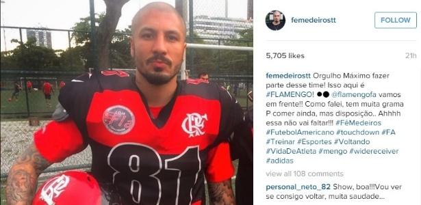 fea3c07bda Ex-BBB viveu auge com Fla em 2009 e agora defende time no futebol americano