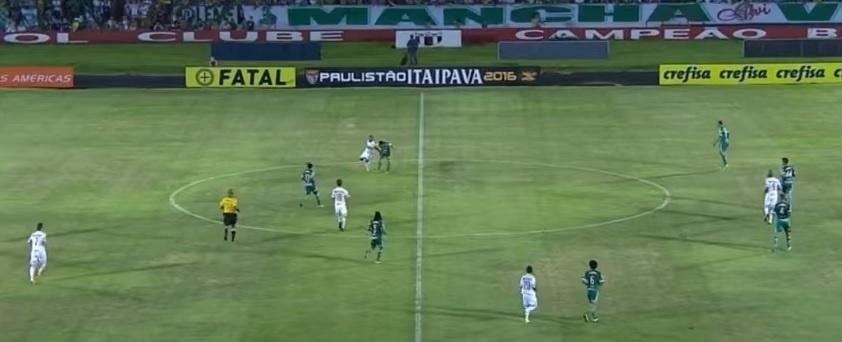 Marcelo escalou três zagueiros na partida do Palmeiras contra o Botafogo-SP