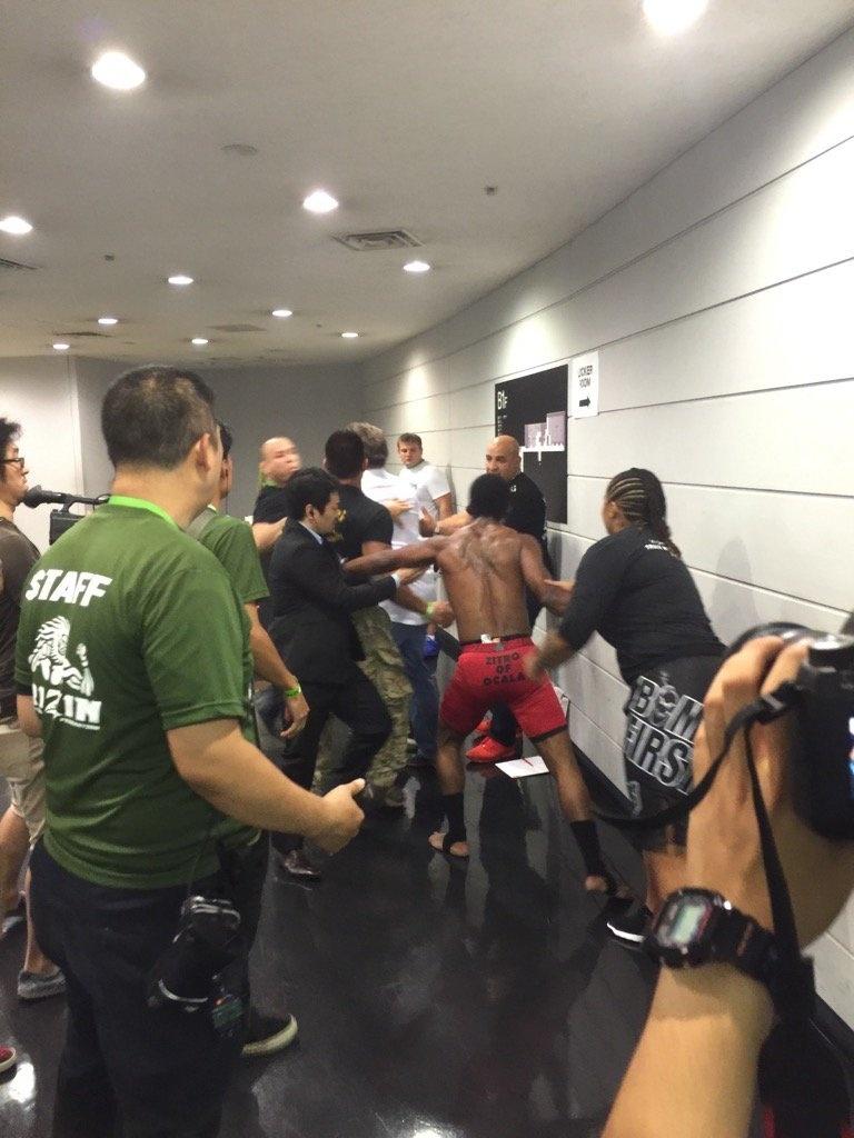 Wanderlei Silva e Charles Bennet brigam nos bastidores de evento no Japão