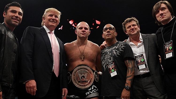 Donald Trump se envolveu com eventos e projetos de MMA em algumas oportunidades