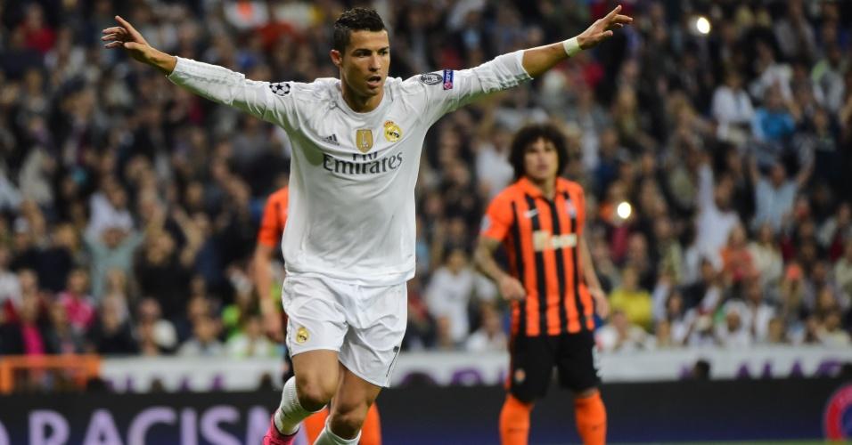 Cristiano Ronaldo foi o principal nome do Real Madrid na vitória sobre o Shakhtar por 4x0