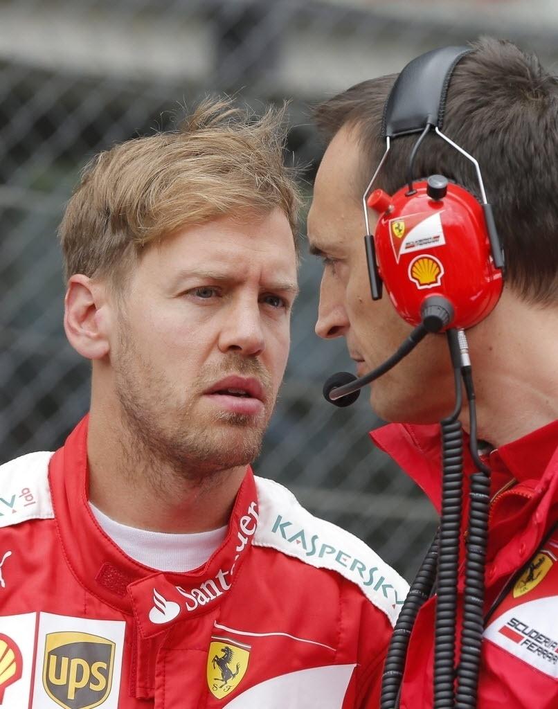 Vettel ficou com a quarta posição. O alemão tentou ultrapassar Massa no fim da prova, mas o brasileiro resistiu à pressão