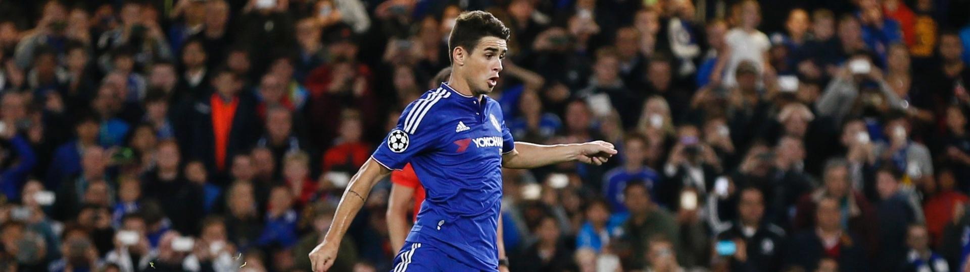 Oscar bate pênalti para o Chelsea e amplia o placar contra o Maccabi Tel Aviv pela Liga dos Campeões