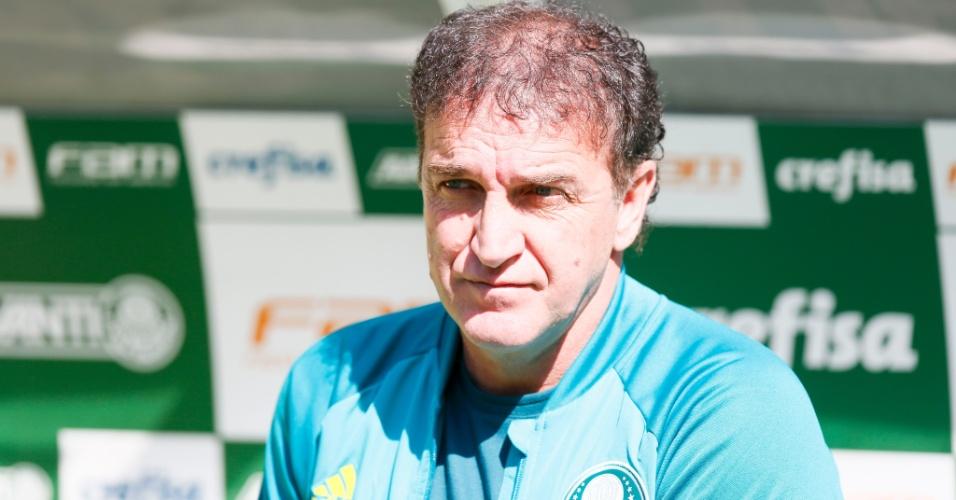 Cuca antes do início da partida entre Palmeiras e Atlético-MG