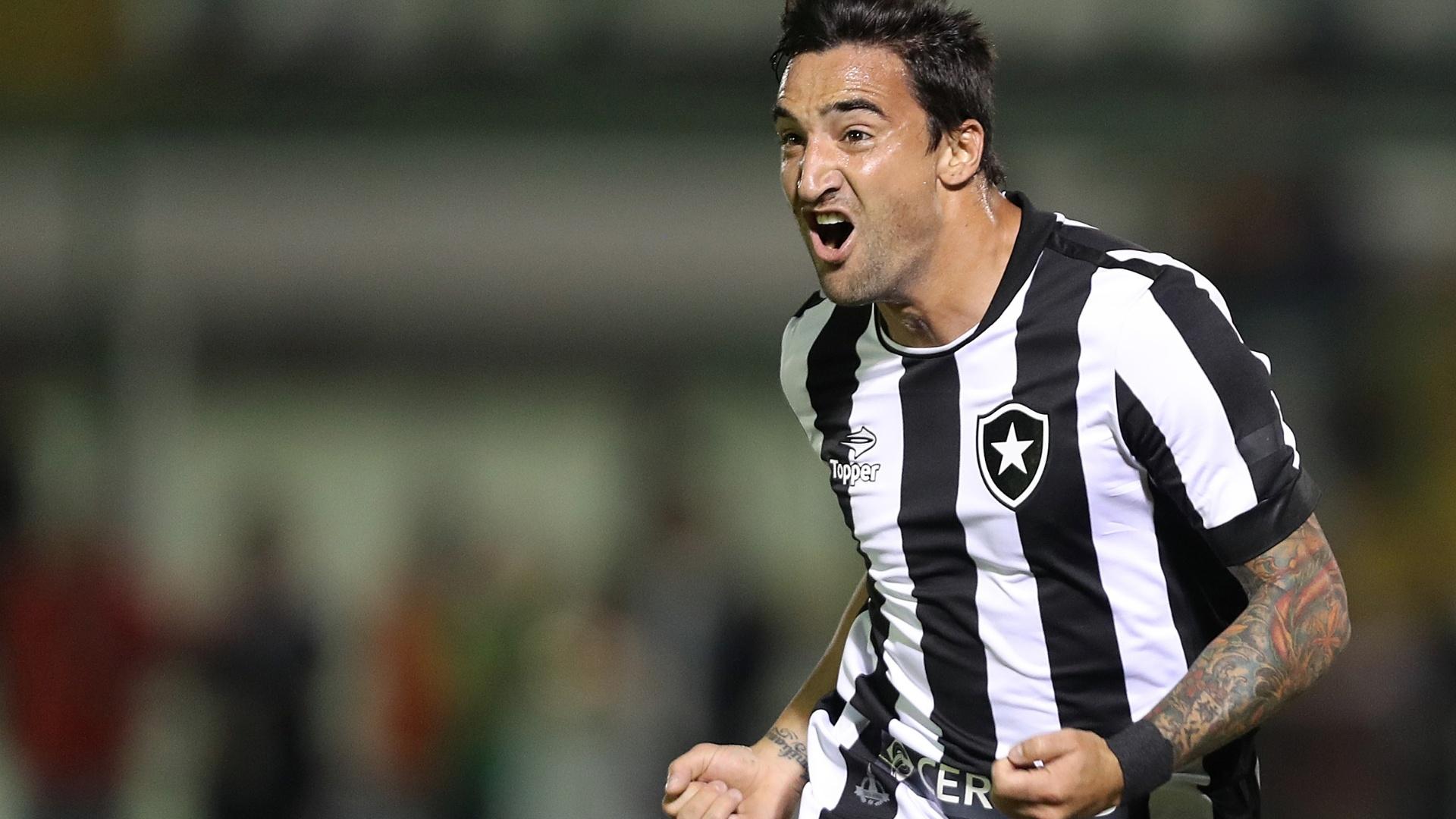 Salgueiro comemora gol do Botafogo contra o Flamengo