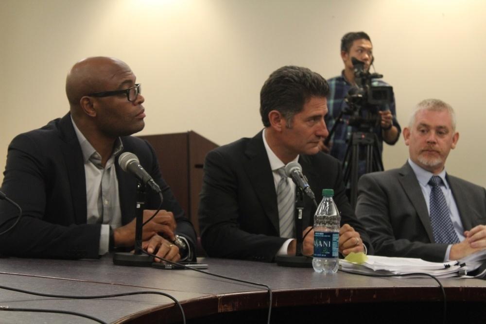 Anderson Silva durante o julgamento de doping