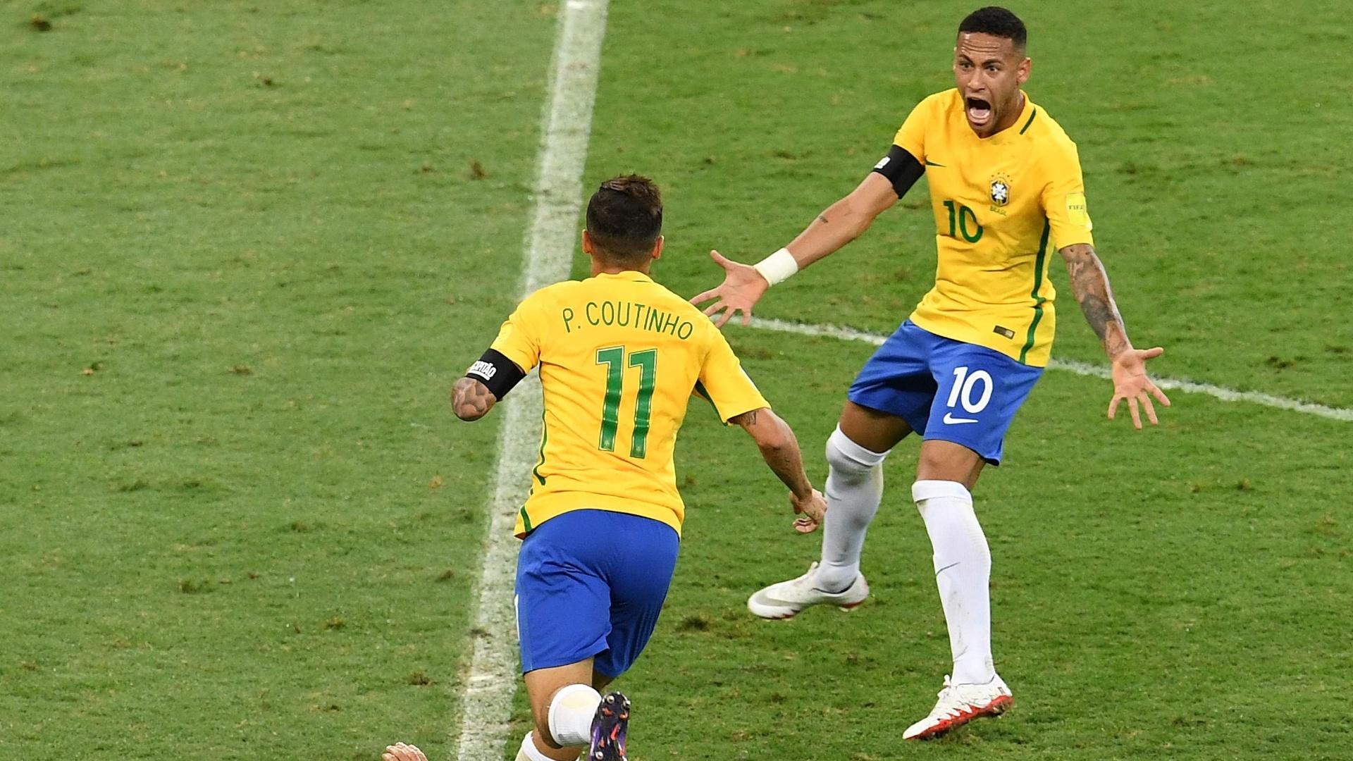 Philippe Coutinho marca para o Brasil contra a Argentina
