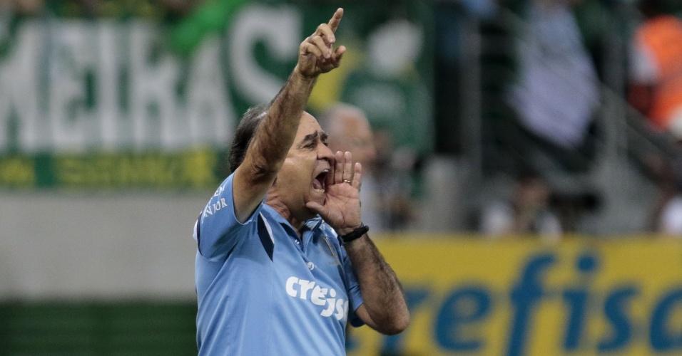 Marcelo Oliveira orienta a equipe do Palmeiras durante a final da Copa do Brasil