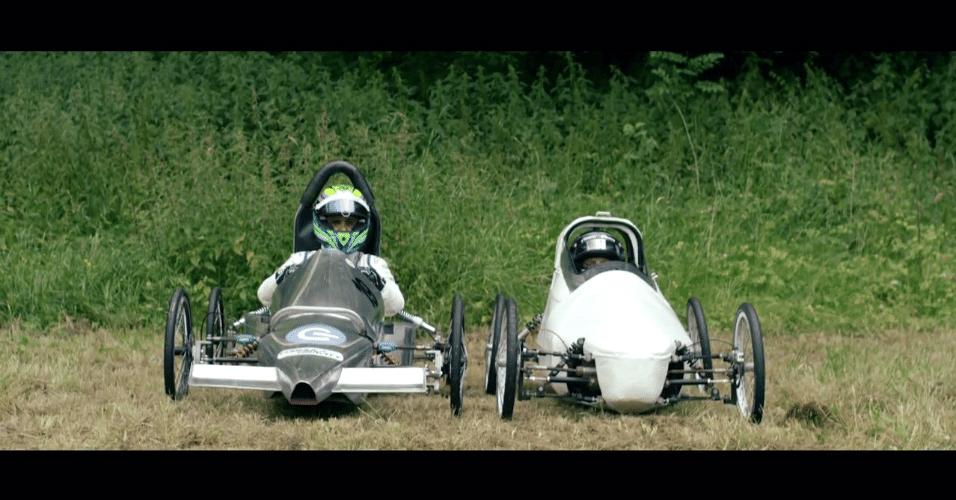 Massa e Bottas em brincadeira da Williams