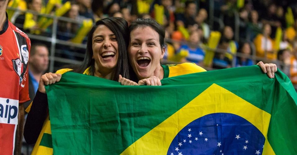 Mesmo jogando na Austrália, a torcida brasileira compareceu para apoiar a selelção