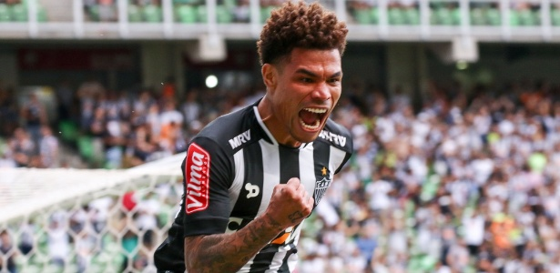 Junior Urso comemora gol marcado pelo Atlético-MG o Boa Esporte, pelo Campeonato Mineiro