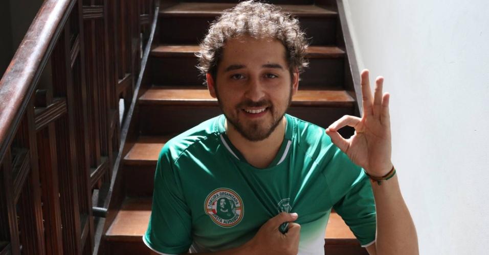 Diego Rojas, torcedor do Palmeiras e ativista pela legalização da maconha