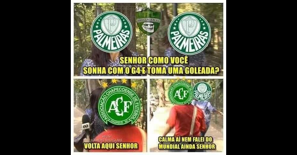 Palmeiras virou piada na internet após sofrer goleada