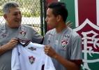 Recebido por Romerito, jovem paraguaio é oficializado como reforço do Flu - Fluminense/Divulgação