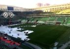 Cuca volta a reclamar da arena: 'Mais para espetáculo do que para futebol'