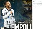 Liga Italiana confunde ex-corintiano com joia emprestada ao Bragantino - Reprodução / Facebook