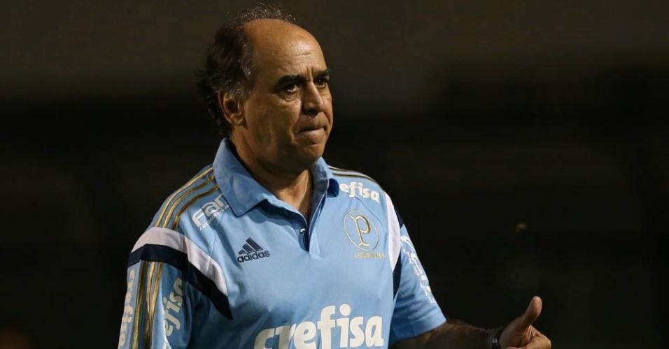 Marcelo Oliveira durante a partida entre Palmeiras e São Bento, válida pelo Paulistão, no Pacaembu