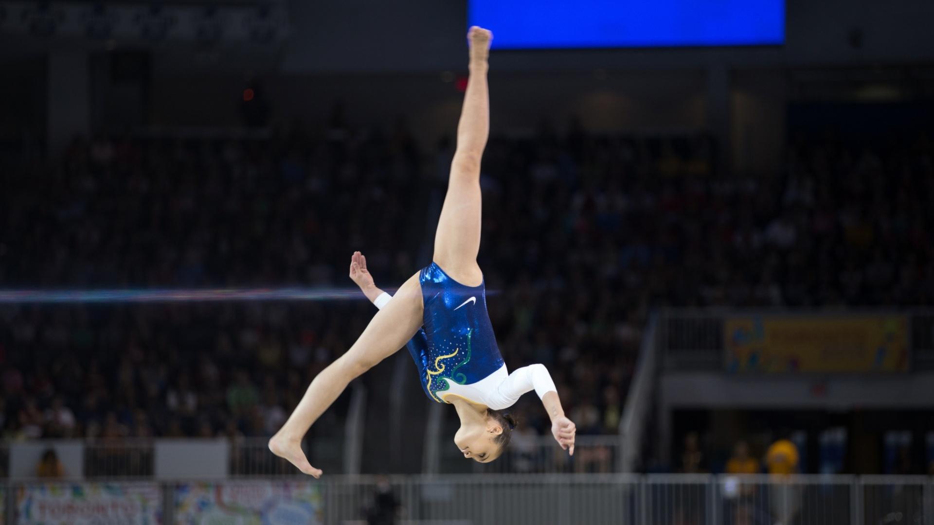 Julie Kim Sinmon terminou a final da trave na quarta colocação