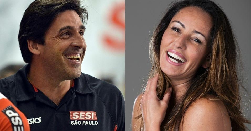 Montagem com Giovane Gavio e Ana Paula, ex-jogadores de vôlei